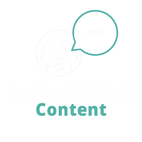 Illustration Authentischer Content