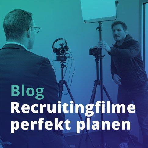 Aufbau Interviewset bei Planung Arbeitgebervideos