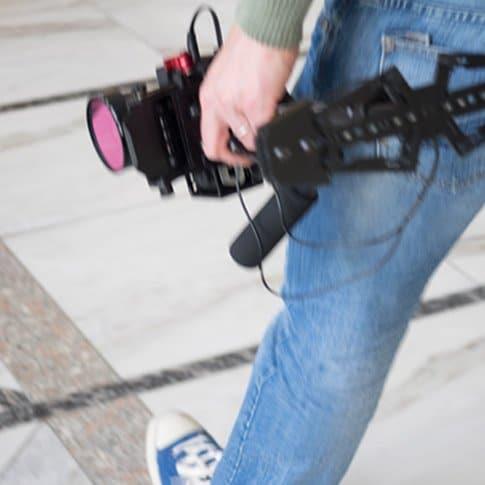 Unterwegs beim Videodreh